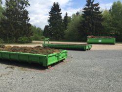Grünabfall-Sammelplatz