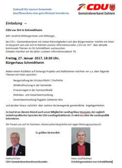 CDU vor Ort in Schmidtheim 27.01.2017