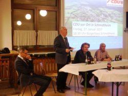 Bericht der Veranstaltung CDU vor Ort in Schmidtheim